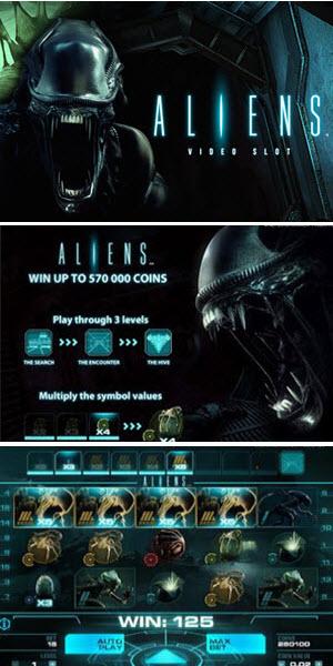 Aliens - spilleautomat fra NetEnt